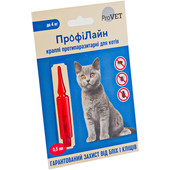 Капли на холку от блох и клещей ProVet ПрофиЛайн для кошек весом до 4 кг